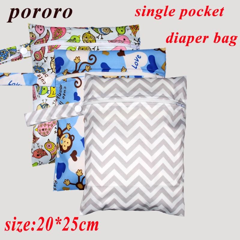 [Pororo] 2017 New mini Wet Bag Washable Reusable baby cloth diaper Bag Waterproof Printer PUL Wet Bags Diaper Bag