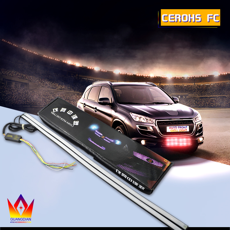 Tcact 2pcs RGB 72led LED Universal Car Warning Strobe Flash light Car in the network decorative knight lights