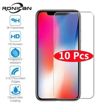 10 pièces verre trempé pour iPhone X XS MAX XR 4 4s 5 5s SE 5c Film de protection d'écran pour iPhone 6 6s 7 8 Plus X 11 protecteur de verre