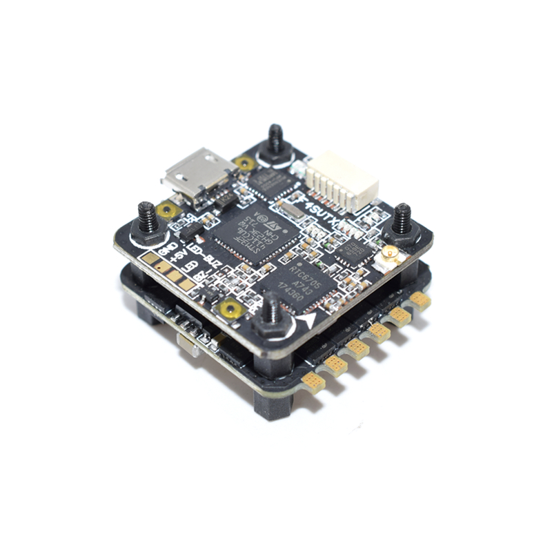 ARTOWER Mini ARF4-SVTX F4 Flight Controller Integrated OSD 48CH 200MW VTX + BLHeli_S 28A 4 in 1 ESC For RC FPV Racing Drone Part original emax f4 magnum all in one fpv stack tower system f4 osd 4 in 1 blheli s 30a esc vtx frsky xm rx