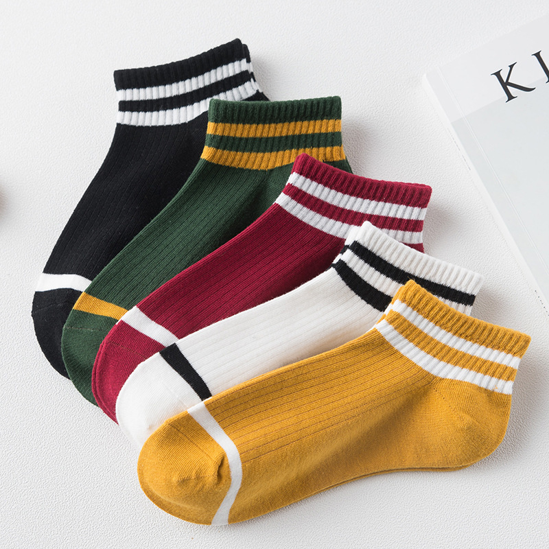SOFIBERY College wind striped boat   socks   Women's casual cute   socks     socks   women's   socks   SK1