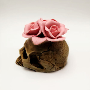 Image 3 - 3D Rose skull silicone mold diy candle plaster silicone mold Halloween decoration tools