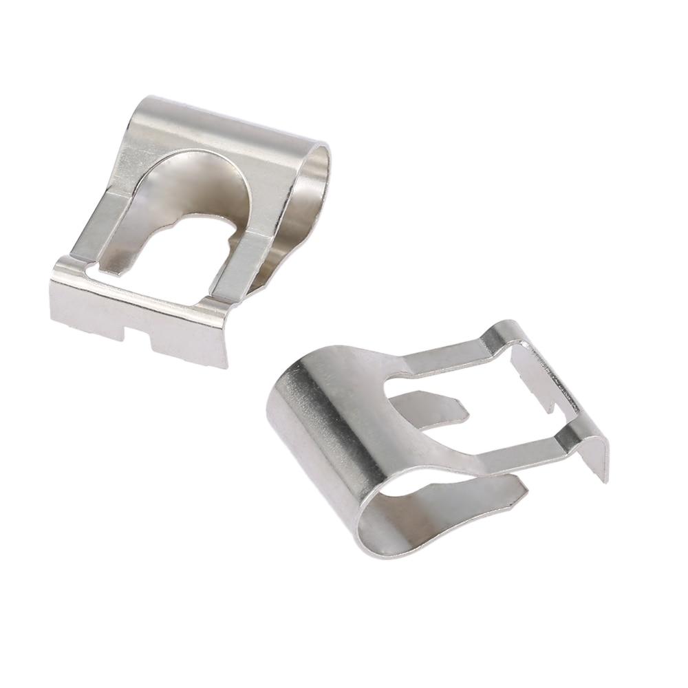 Link Repair Clip 2Pcs Professional Windscreen Wiper Motor Linkage Clip Set Rods Arms Link Repair Clip Kit Silver