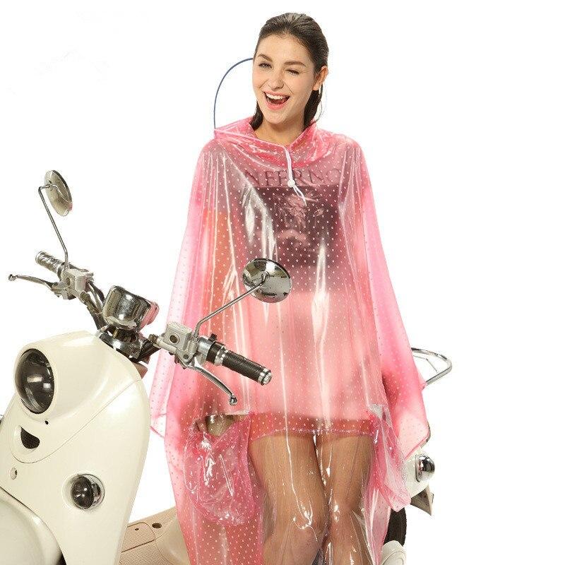Raincoats overalls outwork motorcycle bicycle bike rainwear men and women single person crystal dot heart waterdrop Large YY73
