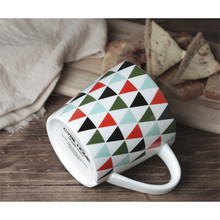 Nordic concise thick large capacity art color  breakfast cup mug water glass 480ml B