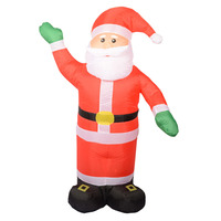1.2M Inflatable Santa Claus Chirstmas Decoration Supplies For Supermarket Bar Christmas Outdoor Ornamet Navidad Party Supplies