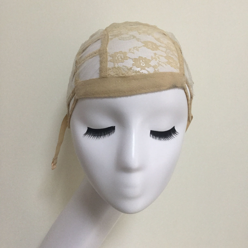 Glueless Lace Wig Cap For Making Wigs With Adjustable
