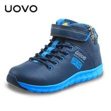 UOVO automne hiver 2016 enfants chaussures mid-cut garçons casual chaussures mode grands garçons chaussures