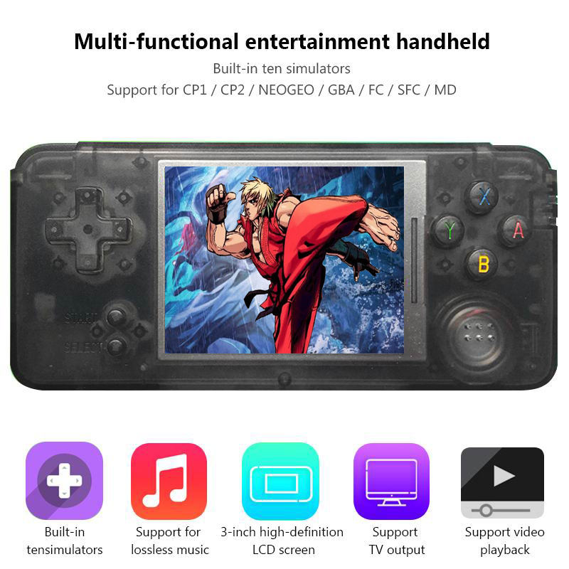 Retro Handheld Game Console 3.0 Built-in 1151 Games Mini Video Gaming Console MP4 MP5 Childhood Portable Handheld Game Player