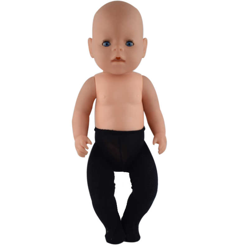 bc2e6bedcea 1pcs Black weave Tights Doll Leggings Clothes Wear Fit 43cm Baby Doll  Clothes And 17inch Doll