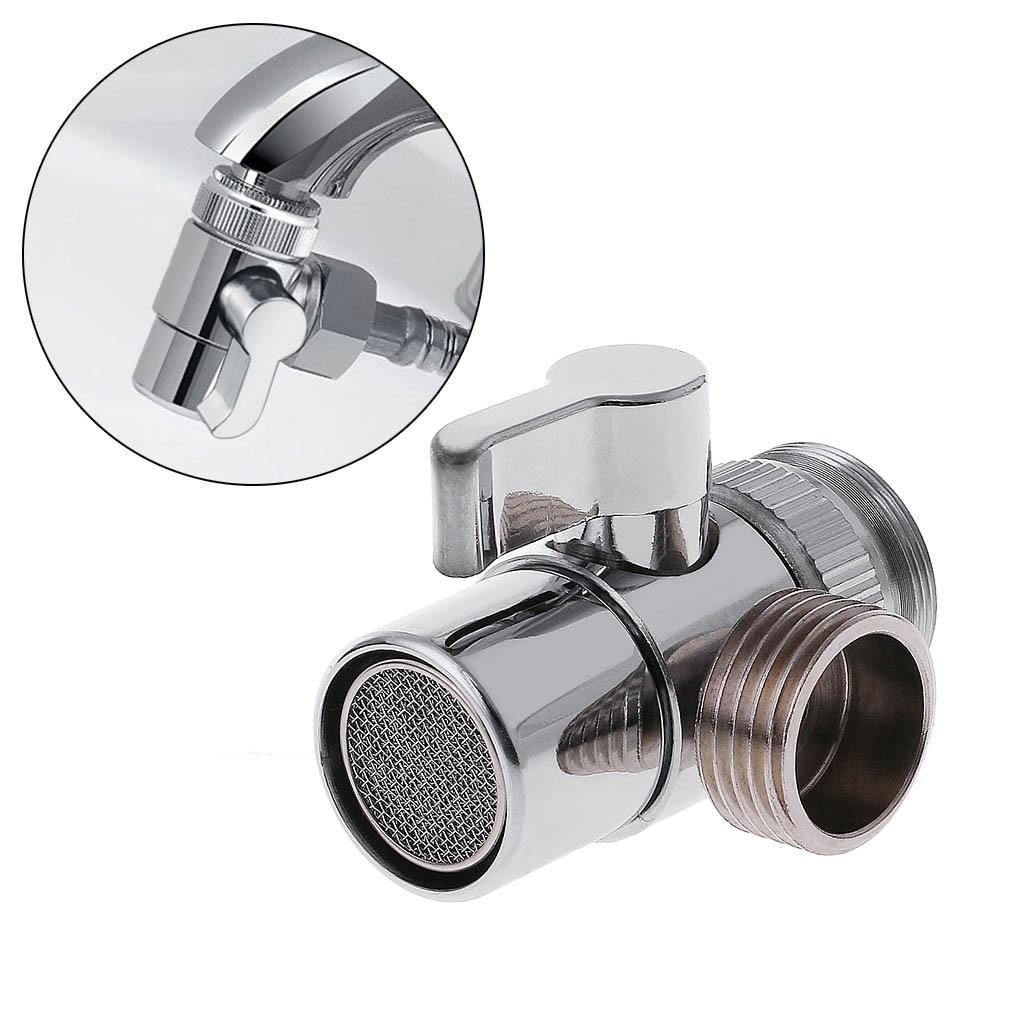 Bathroom Kitchen Brass Sink Valve Diverter Faucet Splitter to Hose ...