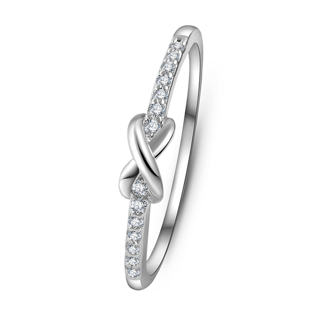Cross Infinity Symbol Crystal Ring
