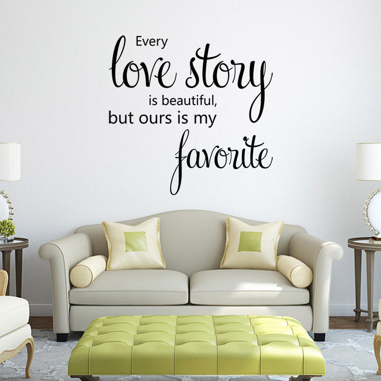 Family Love Story Vinyl Quotes Wall Sticker Poster Living Room Bedroom Wall  Stickers Home Decoration Wall Decals Quotes Sayings In Wall Stickers From  Home ...