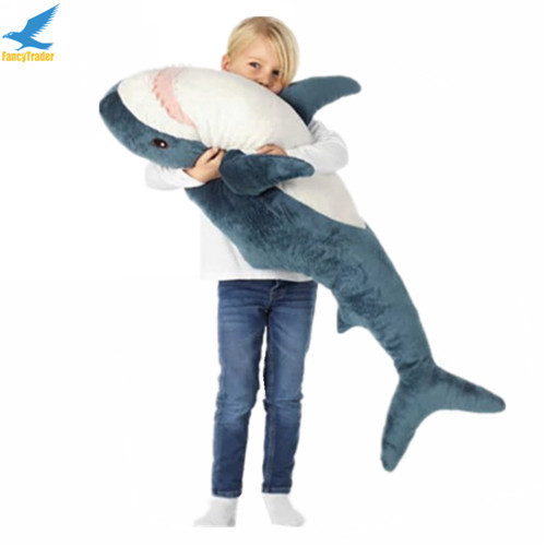 Fancytrader 39\'\' Big Plush Hammerhead Shark Soft Stuffed Lifelike Animal Shark Toy for Kids 100cm Great Gift & Home Decoration (1)