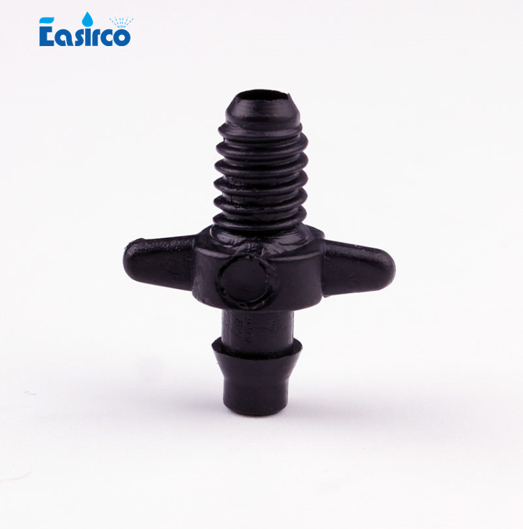 (50pcs/pack)1/4 in. Barbed Connector to connect one end of 1/4 Microtube and the other end of PVC pipe ,free shipping