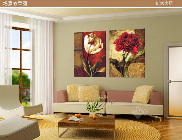 Quadro vintage fiori muro dipinto su tela quadri moderni for Lista permesso di soggiorno