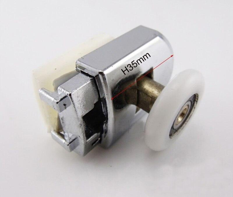 Для ванной комнаты частей шкив душевой шкив ролик шкива для сдвиг двери шкив медь + нейлон kf529