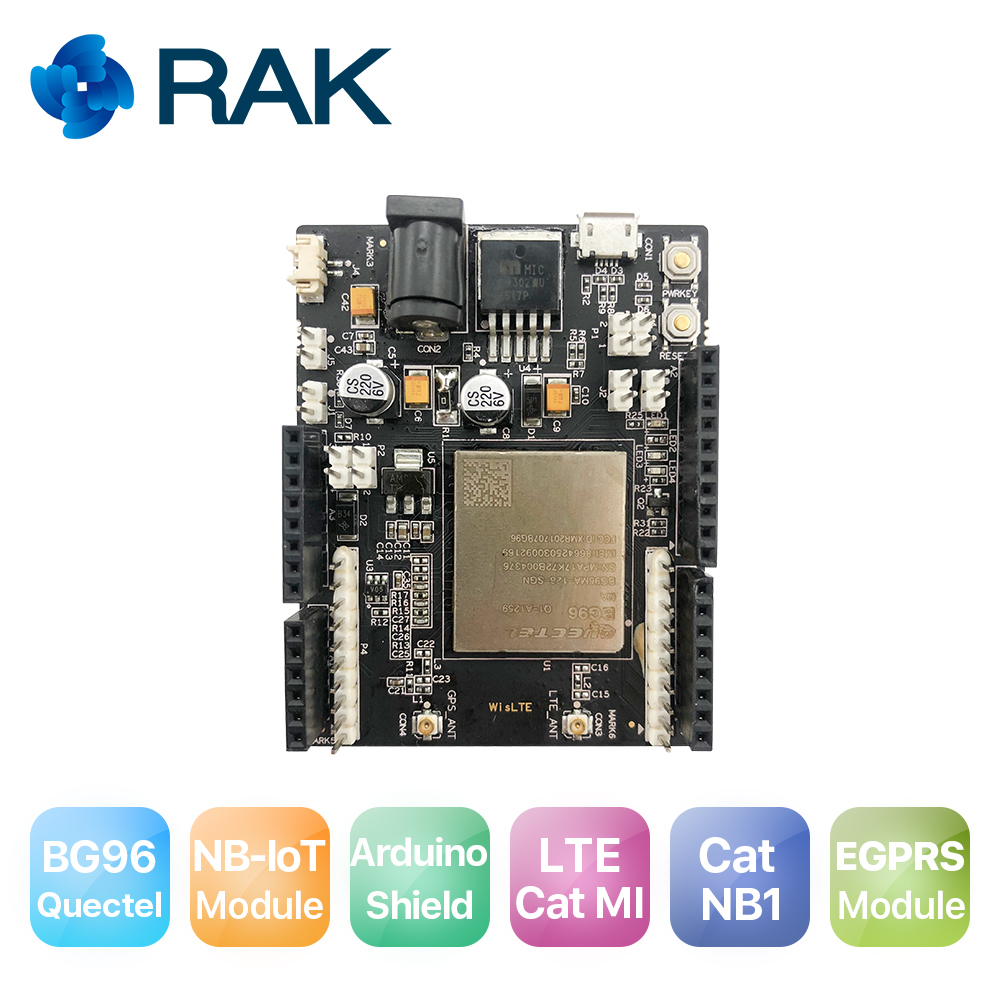 WisLTE Quectel BG96 LTE Arduino Friendly Development Board Arduino Shield Compatible Support LTE Cat GPRS Module With SIM Slot