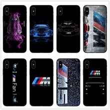 4092ec81f64 Funda de teléfono de silicona suave negra para iPhone X 5 S 5S 6 6 S 7 8  Plus BMW carcasa de TPU con logotipo de la serie M para.