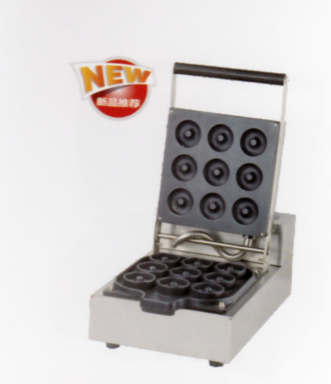 Free shipping with recipe Electric 9 hole sweet donut machine waffle maker dounts free shipping 6 pcs dounts making machine with recipe waffle grill