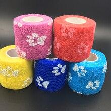 5pcs Security waterproof self adhesive elastic bandage first aid kit Cohesive Bandage Medical tape Colorful finger Bandage