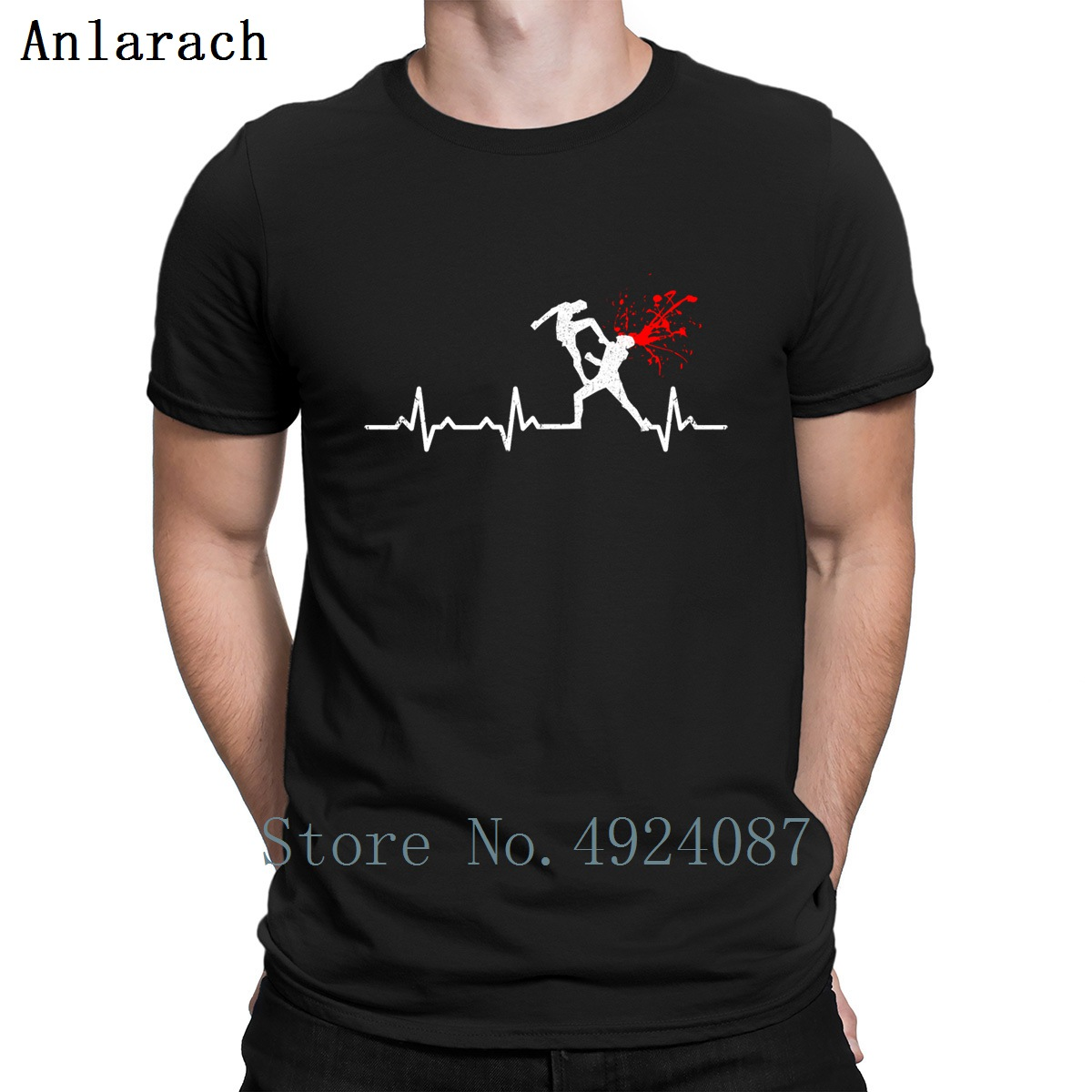 Heartbeats Muai Thai Lover Design T Shirt Summer 2019 Humorous Design Fitness Clothing Funny Casual Men Tops Custom Shirt