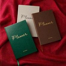Agendas 2019,6 2020 6 organizador de planificador A5 cuaderno de diario y revistas de lujo Vintage semanal cuaderno de notas Vintage
