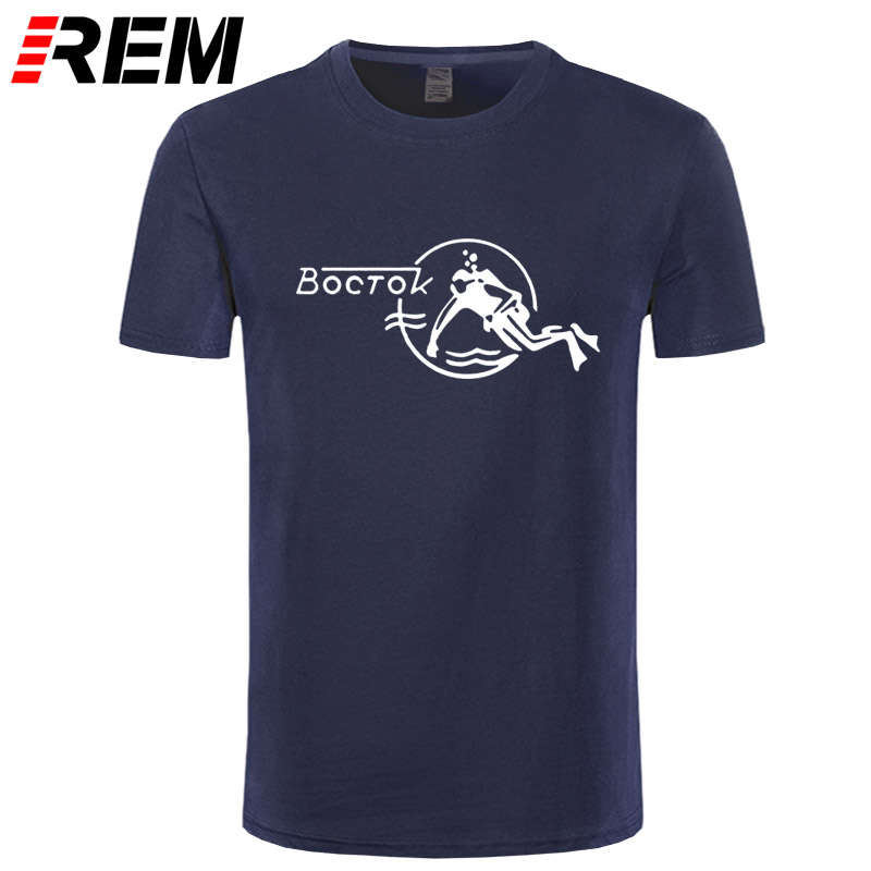 REM Fashion Cool Men T Shirt Women Funny Tshirt Vostok Scuba Dude Customized Printed T-Shirt