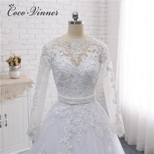 Image 4 - Boot ausschnitt Perlen Schärpen Vintage Hochzeit Kleid 2020 Stickerei Appliques Perlen Kristall Perlen Ballkleid Hochzeit Kleider W0007