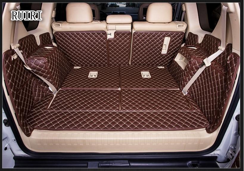 Good Car Trunk Mats For Toyota Land Cruiser Prado 150 7 Seats 2019-2010 Waterproof Cargo Liner Mats Boot Carpets For Prado 2018
