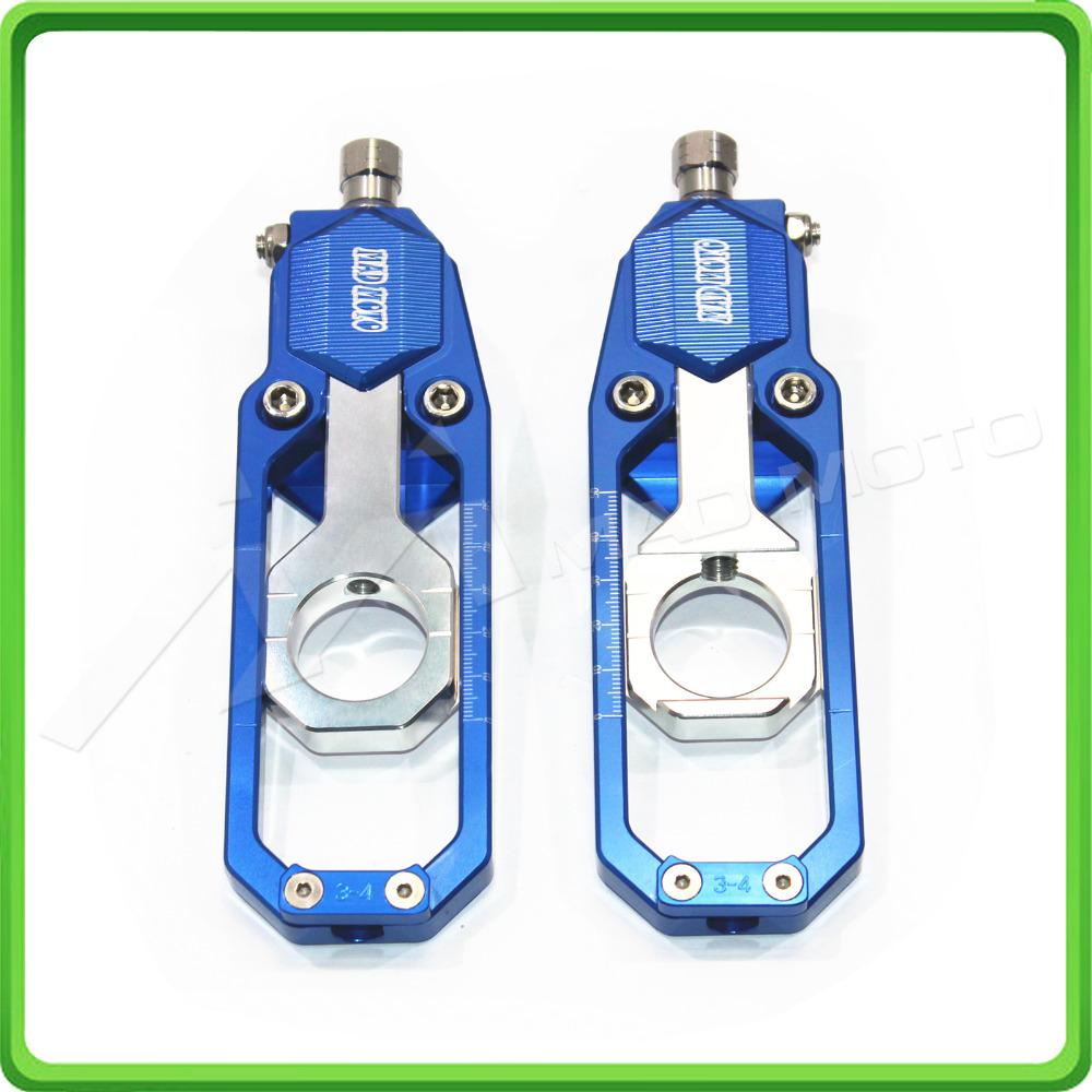 Motorcycle Chain Tensioner Adjuster fit for SUZUKI GSXR600 GSXR750 GSX-R GSXR 600 / 750 2006 2007 2008 2009 2010 Blue & Silver for suzuki gsx r 600 750 2006 2010 motorcycle accessories engine cover frame slider crash protector gsxr600 gsxr750