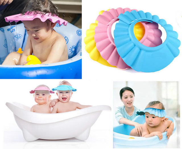 Baby Care Kids Toddlers Infantil Shower Cap Bath Soft Cute Shampoo Hat Wash  Hair Shield Kids Newborn Baby Boy Caps Hats Beanie-in Shampoo Cap from  Mother ... 1908de7326a6