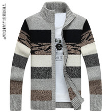 TIMESUNION Men s Knitted Sweaters Cardigans Collar Winter Wool Sweater Fashion Cardigans Male Sweaters Coat Brand