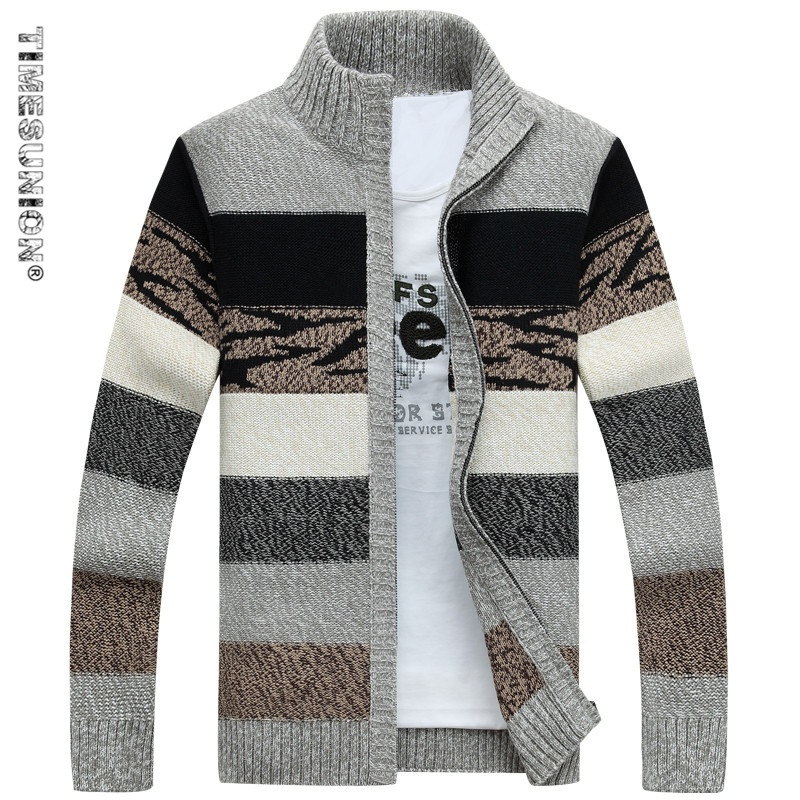 TIMESUNION Men's Knitted Sweaters Cardig