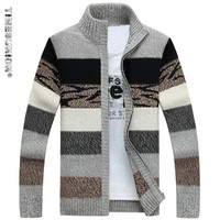 Men S Knitted Sweaters Cardigans Collar Winter Wool Sweater Fashion Cardigans Male Sweaters Coat Brand Men