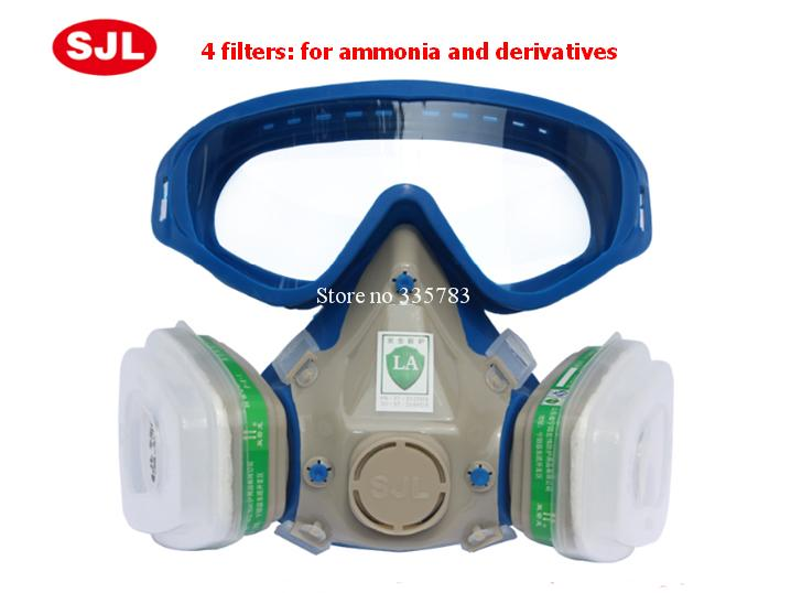 Full Face H2s Gas Mask 7Suits Defense Organic And Acid Gases Breath Spray Paint Pesticide Respirator Dust Chemical-Gas-Mask