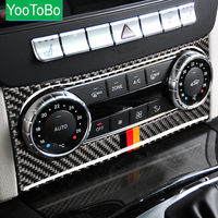 Carbon Fiber Car Accessories Air Conditioning Outlet Control Car Interior For Mercedes W204 C Class 2011