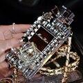 Bling diamante perfume silício caso para iphone 7 plus 7 caso coque 4 4S 5c 5 5S se 6 6 s Plus Cristal diamante capa fundas carcasa