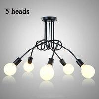 Vintage Ceiling Lights Modern Light Fixtures LED Lamps Home Lighting Metal Lampshade Industrial Edison E27 Holder