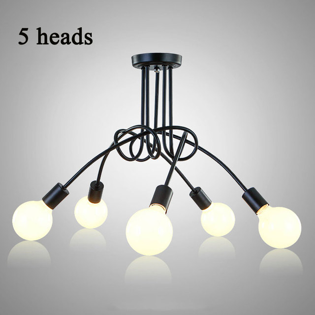 Vintage Ceiling Lights Modern Light Fixtures LED Lamps Home Lighting Metal  Lampshade Industrial Edison E27 Holder