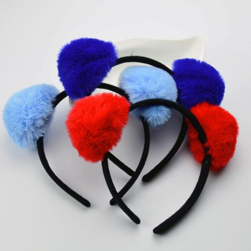 Birthday Party Cat Ears: Plush Cat Animal Ear Headband Children Adults Panda Ears