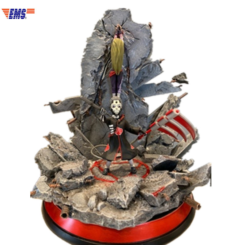 Naruto Hidan Ganância E Devoto Yugito Nii Resina Estátua de Cenas de Caçar E Matar Limitada Action Figure Toy Modelo X684