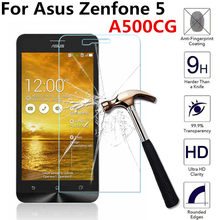 For Asus zenfone 5 Zenfone5 A500CG A501CG A502CG A500KL T00J T00F z580 5.0inch Tempered Glass Screen Protector Guard Film Case(China)