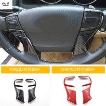 2 шт./лот ABS углеродного волокна зерна рулевого колеса украшения чехол для 2010- Toyota eiz