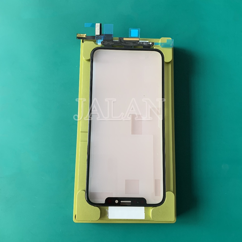 Universal mold for iphone X XS glass digitizer LCD display screen unbent flex laminating work for