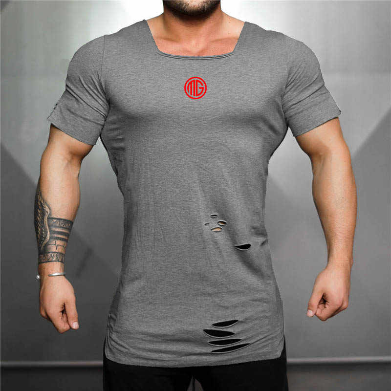 Фитнес Беговая футболка для мужчин с коротким рукавом спортивный Топ эластичный хлопок спортивная одежда для спортзала бодибилдинг, тренировка Футболка Рашгард