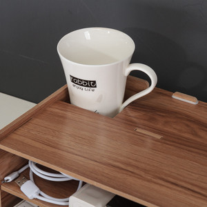 Image 4 - עץ צג מחשב נייד Stand מחזיק Riser מחשב שולחן ארגונית מקלדת עכבר אחסון חריצים עבור ציוד משרדי בית ספר מורה
