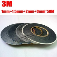 Mixed 4pcs 1mm 1 5mm 2mm 3mm 50m 3m two sides sticky black tape adhesive for.jpg 200x200