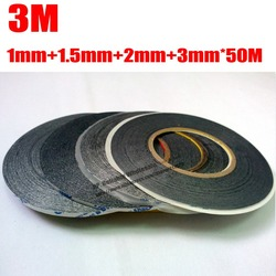 Mixed 4pcs 1mm 1 5mm 2mm 3mm 50m 3m two sides sticky black tape adhesive for.jpg 250x250