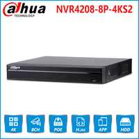 Dahua EU Stock NVR4208-8P-4KS2 8 Channel 8PoE 4K&H.265 Network Video Recorder 4K Resolution For IP Camera Security CCTV System